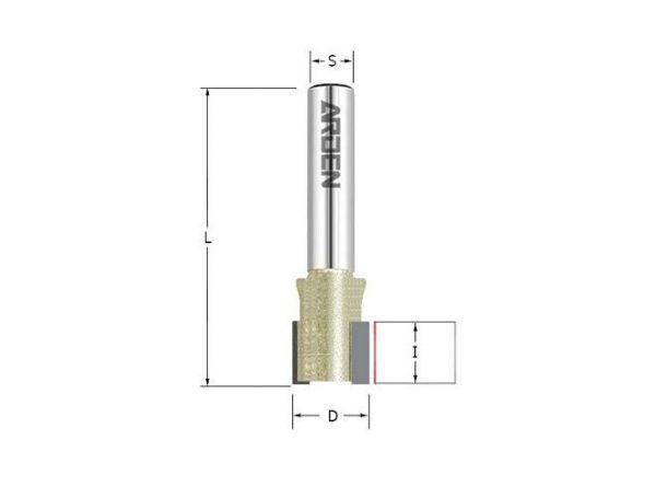 Фреза пазовая для врезания петель D=30x12x57 S=12 ARDEN