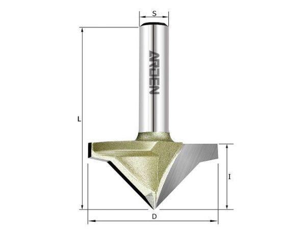 Фреза V образная 45гр. для гипсокартона D=35x17 S=8 ARDEN 190522-5