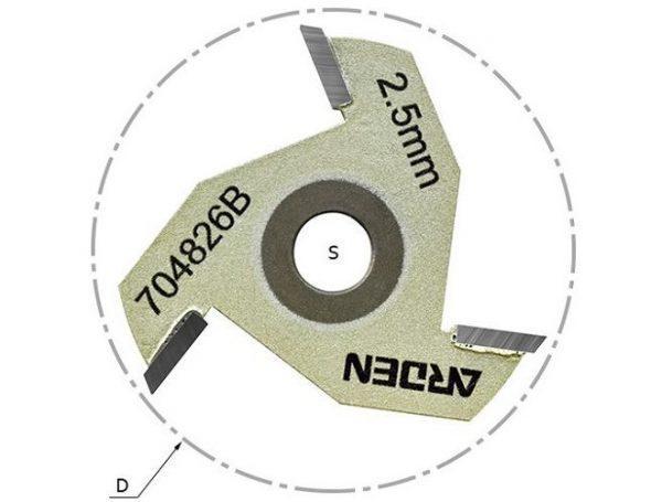 Сменные режущие диски (крепление гайкой) Z=3 D=47.6 i=2.5 ARDEN 704813