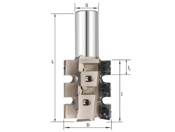 Фреза обгонная со сменными ножами (14x14x2) D=50x60х110 S=20 Rotis 141506020