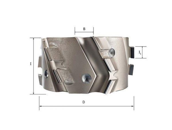 Фрезы алмазные прифуговочные для кромкооблицовачных станков D=125x30x65 RH Rotis 225.12530654DR