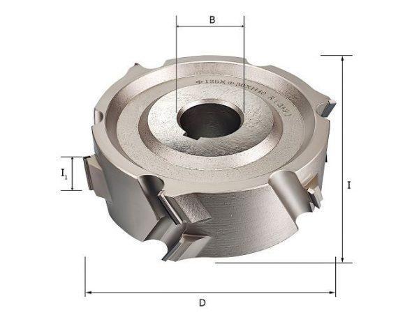 Фрезы алмазные прифуговочные для кромкооблицовочных станков D=125x30x40 LH Rotis 225.12530403DL