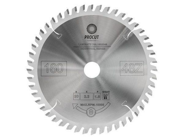 Пила дисковая для ламината, МДФ 160x20x2.2/1.6 Z=48 TFZ PROCUT 755.1602048