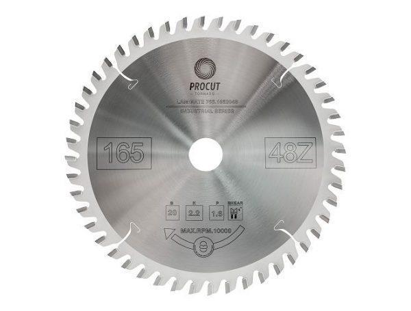 Пила дисковая для ламината, МДФ 165x20x2.2/1.6 Z=48 TFZ PROCUT 755.1652048