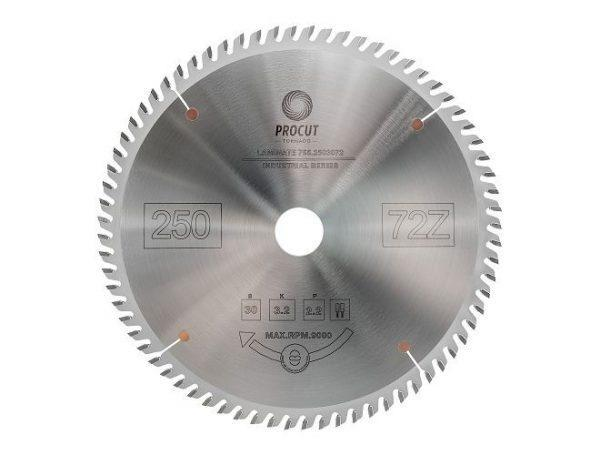 Пила дисковая для ламината, МДФ 250x30x3.2/2.2 Z=72 TFZ PROCUT 755.2503072