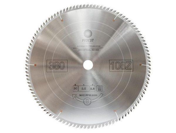 Пила дисковая для ламината, МДФ 350x30x3.5/2.8 Z=108 PROCUT 755.3503008