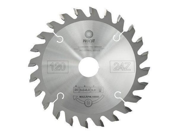 Диск подрезной конический 120x20x3.0/4.0/p=2.2 z24 Conical tooth PROCUT 756.1202024