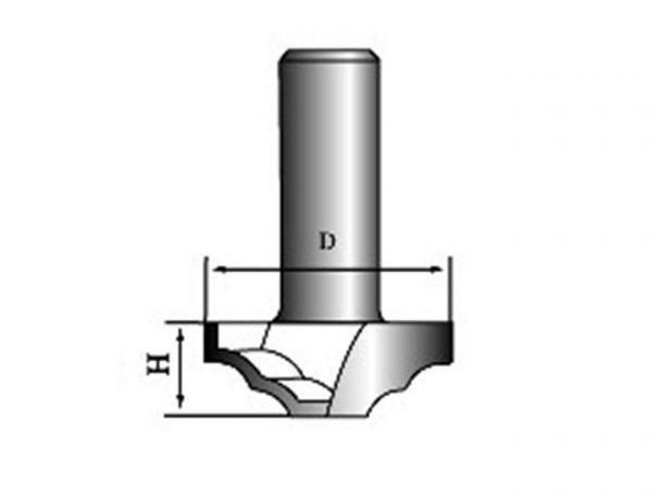 Фреза для фасадов DF36-010 D=36x10x50 S=12 PROCUT