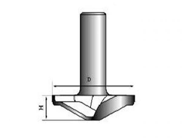 Фреза для фасадов DF50-010 D=50x10x50 PROCUT