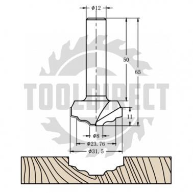 Фреза алмазная филёночная TD-191 D=32x11x65 S=12 Rotis 1913112.01