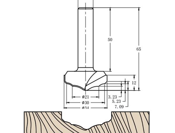 Фреза алмазная филёночная TD-164 D=34x12x65 S=12 Rotis 1643412.01