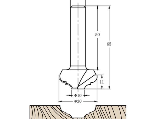 Фреза алмазная филёночная TD-181 D=30x11x65 S=12 Rotis 1813012.01