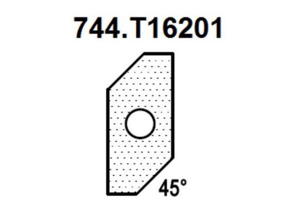 Нож для снятия фаски 45гр. (T16201) для 1472516512 Rotis 744.T16201