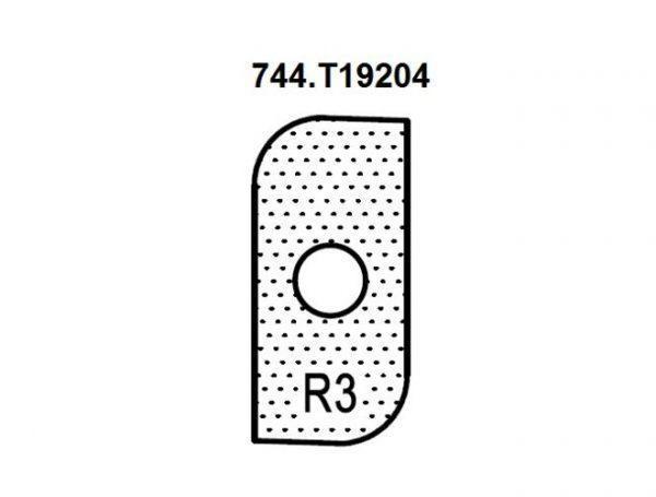 Нож внешний радиус R3 (T19204) для 1472516512 Rotis 744.T19204