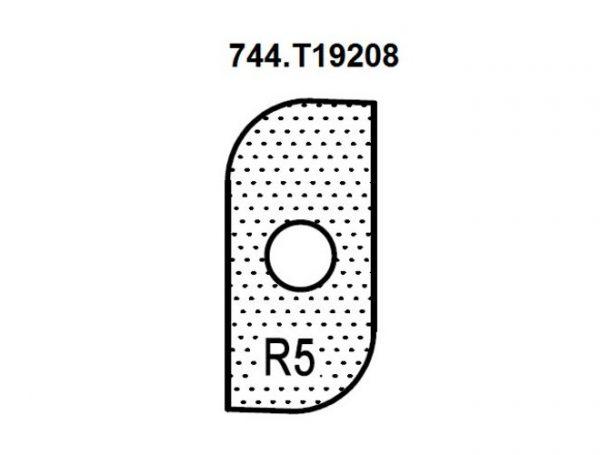 Нож внешний радиус R5 (T19208) для 1472516512 Rotis 744.T19208