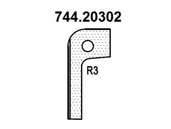 Нож радиусный R3 (T20302) для 1473222212 Rotis 744.T20302