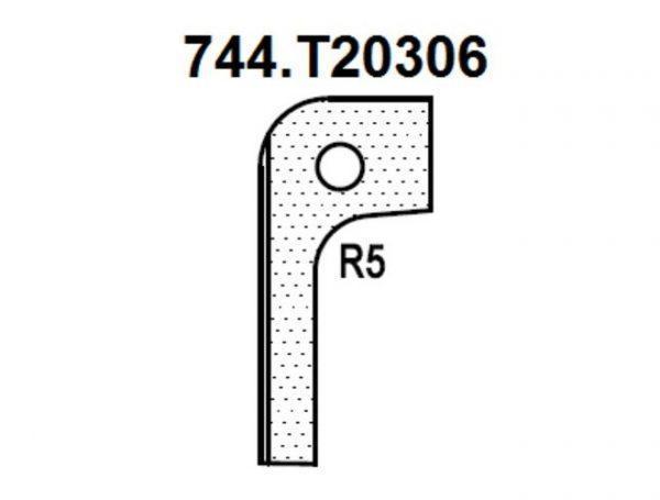 Нож радиусный R5 (T20306) для 1473222212 Rotis 744.T20306