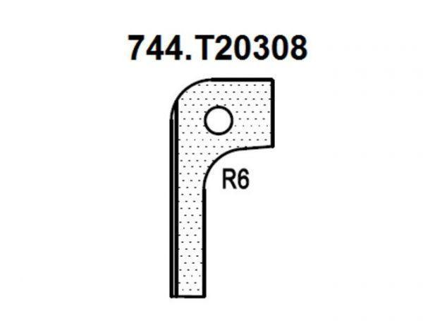 Нож радиусный R6 (T20308) для 1473222212 Rotis 744.T20308