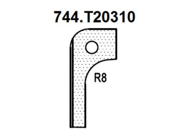 Нож радиусный R8 (T20310) для 1473222212 Rotis 744.T20310