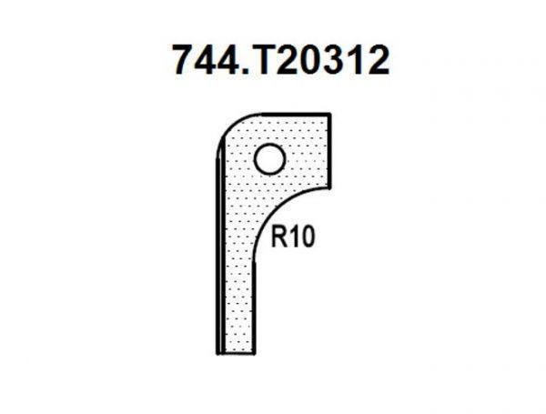 Нож радиусный R10 (T20312) для 1473222212 Rotis 744.T20312
