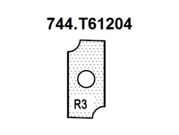 Нож внутренний радиус R3 (T61204) для 1472516512 Rotis 744.T61204