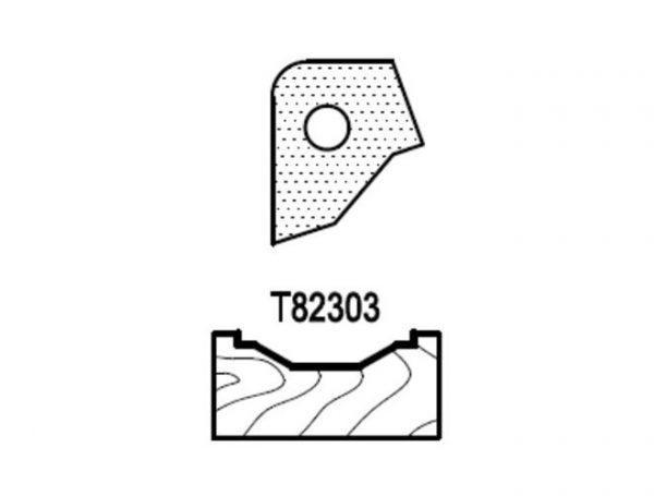 Нож профильный для фасадов (T82303) для 1473231212 Rotis 744.T82303