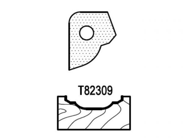 Нож профильный для фасадов (T82309) для 1473231212 Rotis 744.T82309