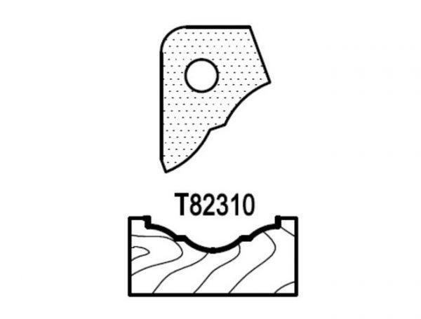 Нож профильный для фасадов (T82310) для 1473231212 Rotis 744.T82310