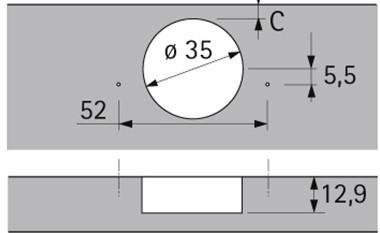 Станок SUPERSAN 750 Присадочный под петлю